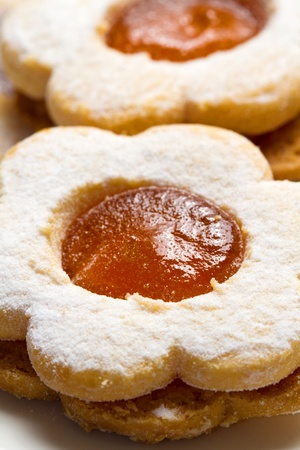 biscuits with jam Stock Photo - 11989272