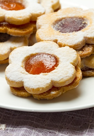 biscuits with jam photo