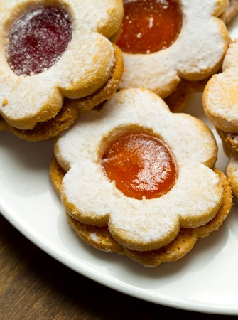 biscuits with jam Stock Photo - 11989205