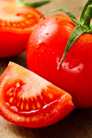 tomate: rouges tomates fraîches Banque d'images