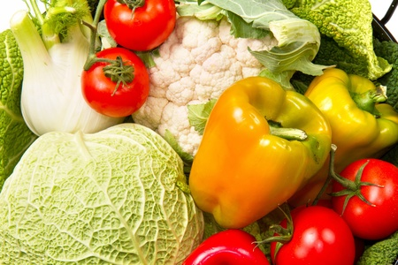 different group of fresh vegetables