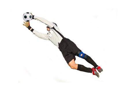 goal keeper: doelman Stockfoto
