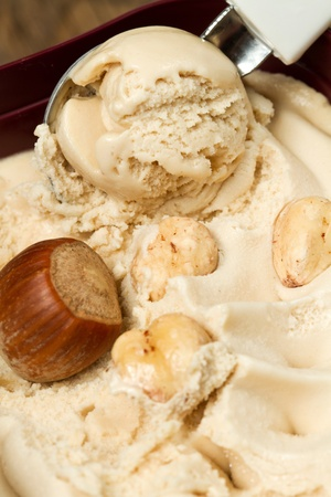 ice cream with hazelnut photo