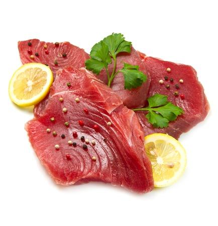 Filet vom frischen Thunfisch Lizenzfreie Bilder