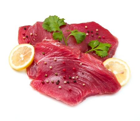 filet of fresh tuna photo