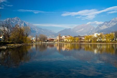 lake como: a view of Como lake