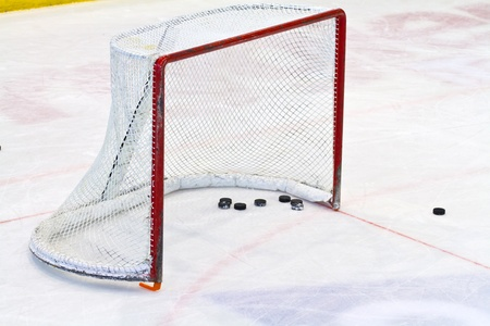 ice hockey net Stock Photo - 12734182