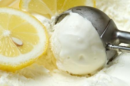 gelato: lemon ice cream Stock Photo