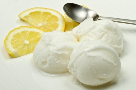 lemon ice cream photo