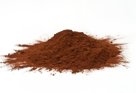 black powder: cocoa powder isolated