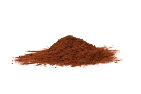 cocoa bean: cocoa powder isolated