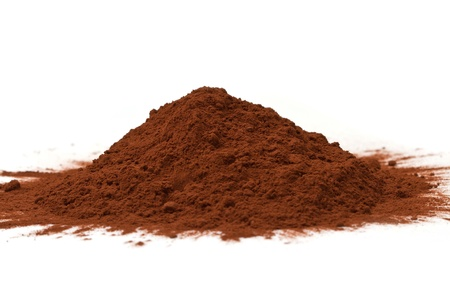 cocoa powder isolated  photo