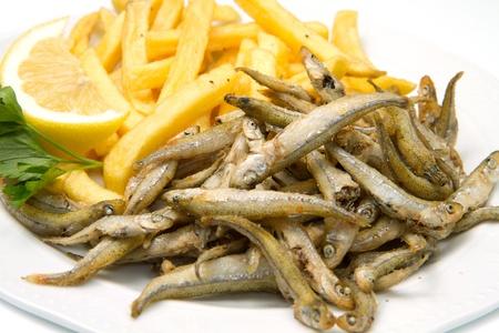 Un piatto di pesce fritto Archivio Fotografico - 13486955