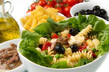 pasta salad: a dish with pasta salad