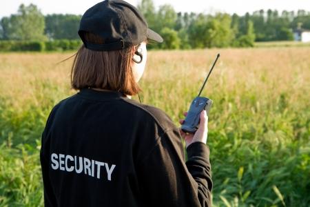 security uniform: back of a security guard