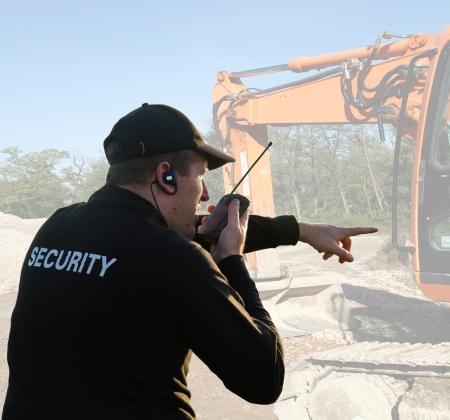 guardaespaldas: parte trasera de un guardia de seguridad Foto de archivo