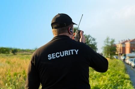 guarda de seguridad: parte de atr�s de un guardia de seguridad