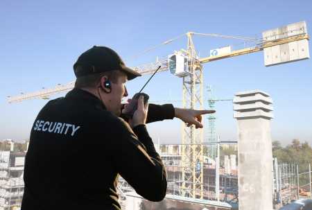 Dos d'un garde de sécurité Banque d'images - 13646066
