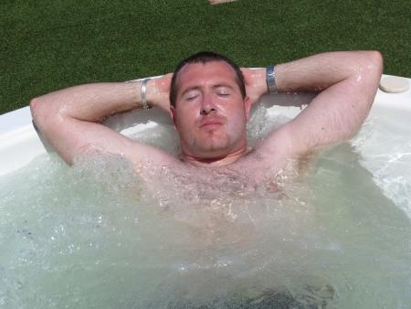laid back: whirlpool Stock Photo
