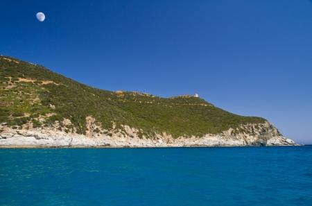 littoral: View of beautiful sea of Villasimius, in Sardinia, Italy