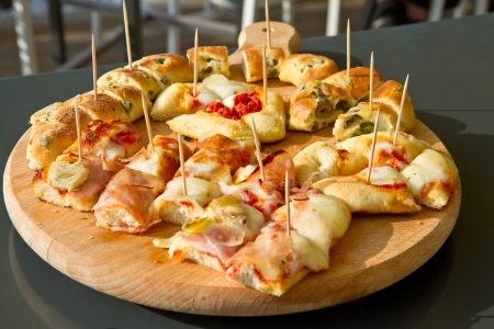 whole food: pizza with vegetables and cheese