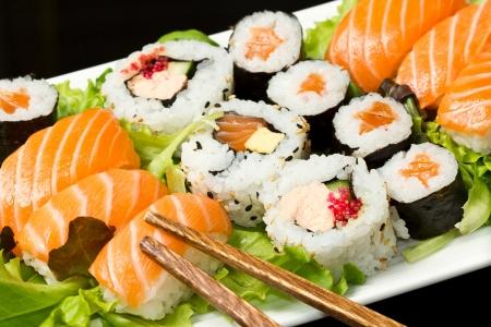신선한 초밥 전통적인 일본 음식 스톡 콘텐츠