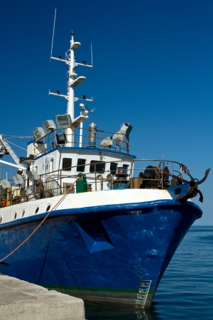 fishing ship in a harbor  photo