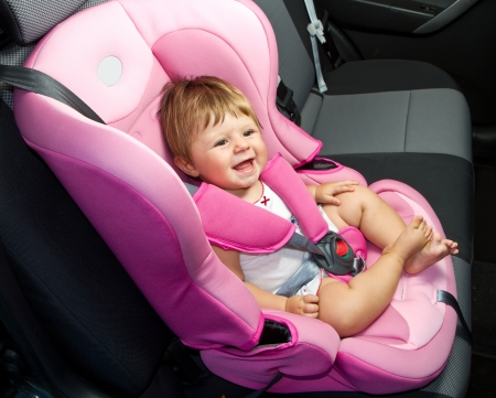 baby in a safety car seat  Safety and security Stock Photo - 14796168