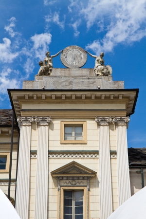 aosta: Town hall of Aosta in Italy  Stock Photo