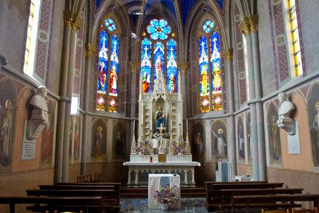 aosta: interior of cathedral of Aosta Editorial