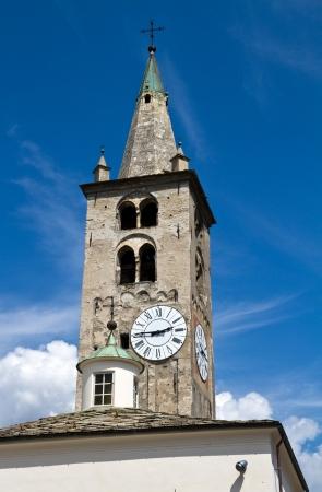 aosta: cathedral of Aosta Stock Photo