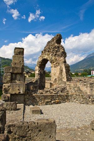 aosta: Roman theater in Aosta Editorial