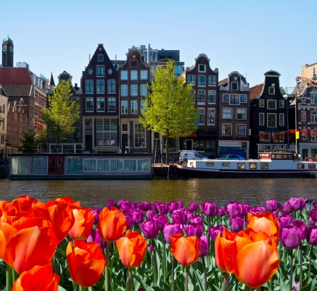 One of canals in Amsterdam photo