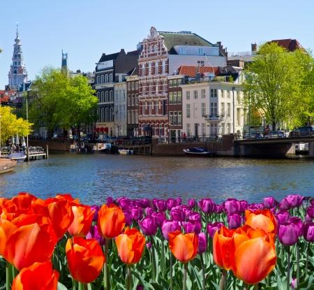 L'un des canaux d'Amsterdam