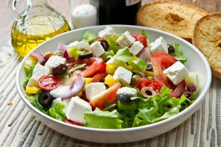 ensalada verde: Ensalada griega