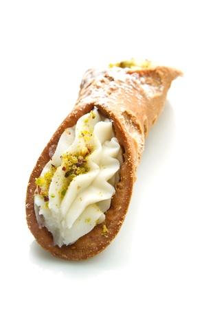 sicilian: Sicilian cannoli with pistachio