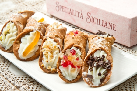 cannoli siciliano mixto photo