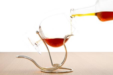 rhum: a goblets  of cognac Stock Photo
