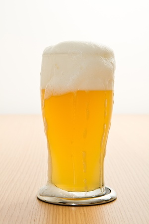 beerglass: wheat beer in a glass Stock Photo