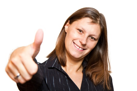 Happy woman with thumbs up Stock Photo - 15530279