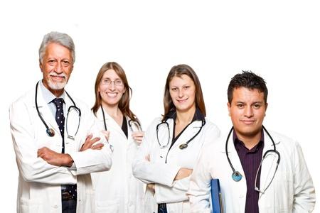 estudiantes medicina: profesionales m�dicos de pie aislado