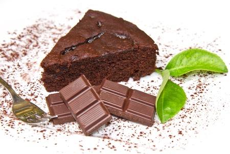 chocolate slice: Dark chocolate cake