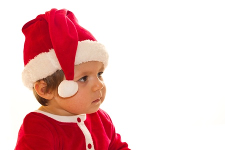 Santa Claus baby girl Stock Photo - 16216454