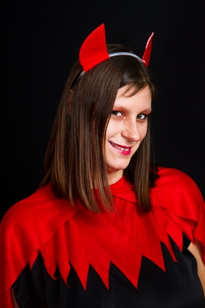 horny:  young devil woman