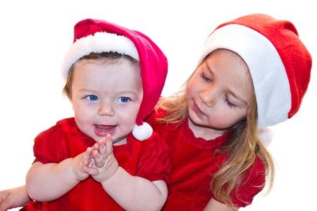 Christmas baby sister Stock Photo - 16519271