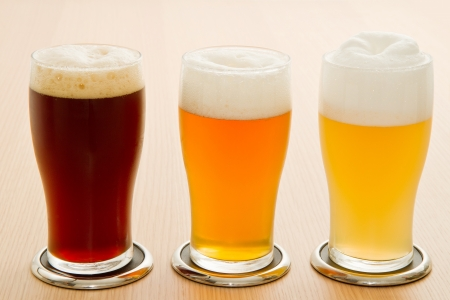 pale wood: different type of beer