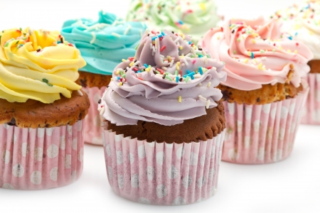 colored Cupcakes  photo