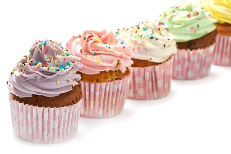 colored Cupcakes Stock Photo - 16854331
