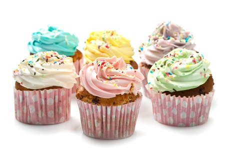 colored Cupcakes  Stock Photo - 16854326