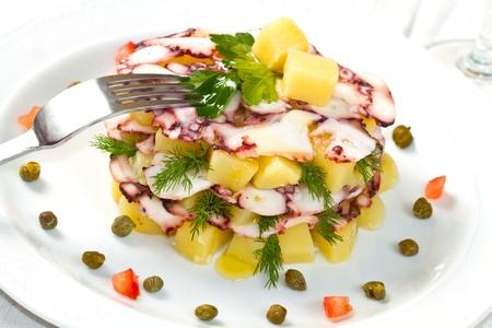 Octopus pie with potatos  photo